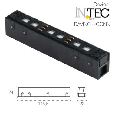 Connettore tra binari per elettrificazione 48V compatibile con sistema Davinci 48V