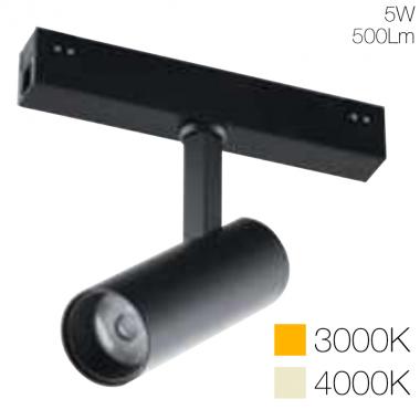 Faro luce spot orientabile per sistema Davinci Tema 48V 5w
