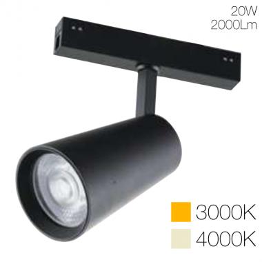 Faro luce spot orientabile per sistema Davinci Tema 48V 20W