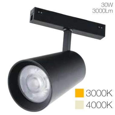 Faro luce spot orientabile per sistema Davinci Tema 48V 30W