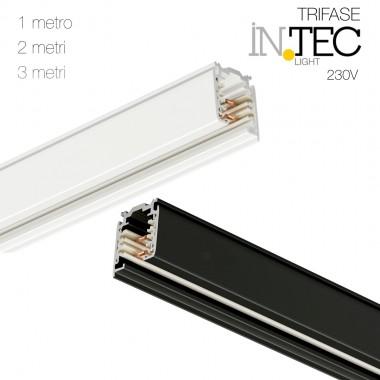 Binario elettrificato trifase 230V montaggio a soffitto INTEC