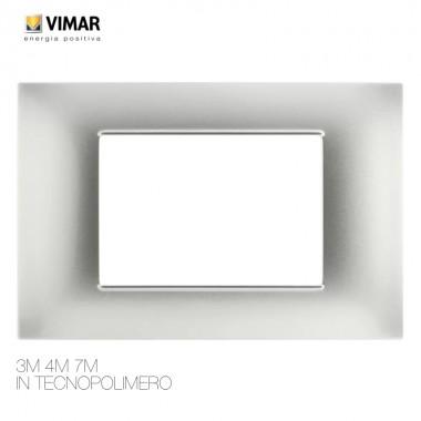 Placche Compatibili 3 4 7 Vimar plana 3 4 7 posti vari colori