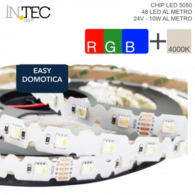 STRISCIA LED 3D PIEGHEVOLE 45° LED 5050 5m 48LED 50W DC24V CRI80 IP20