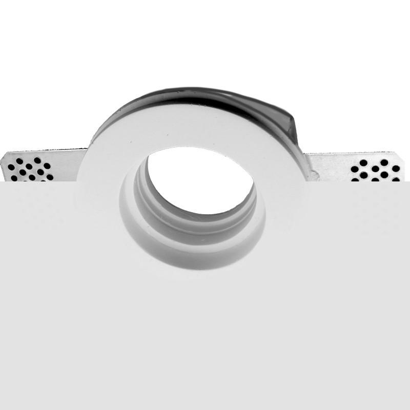 Portafaretti in Gesso ceramico da Incasso Tondo slim C01