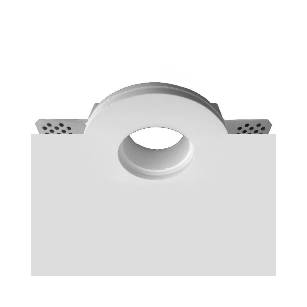 Porta Faretto in Gesso ceramico da Incasso Tondo Quadrato per Controsoffitti